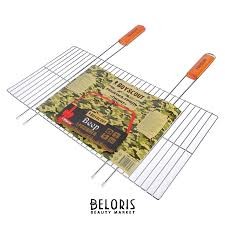 <b>Решетка</b>-<b>гриль Boyscout гигант</b>, веер в подарок, 55 (+5) х 57 х 30 см