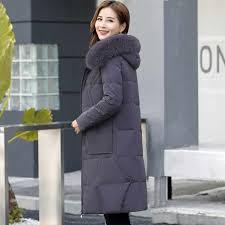 Hooded <b>Down</b> Jacket Female Medium Long <b>2018 Winter</b> New ...