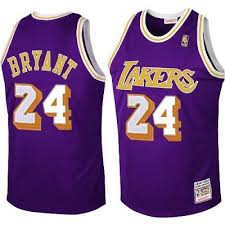 Kobe Bryant Authentic In Purple Mitchell and Ness NBA <b>Los</b> ...