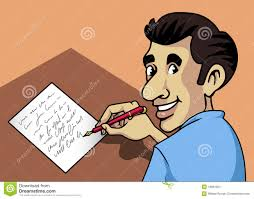 Image result for Man with Pen & Paper writing