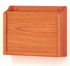 HIPAA Wall <b>Pocket</b> File | Oak Finish <b>Wood</b>