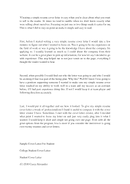 simple cover letter for a  seangarrette co   simple cover letter sample letters resume   simple cover letter