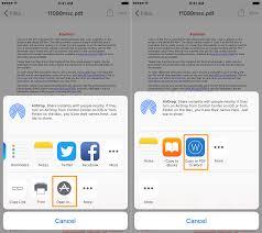 pdf to word convert pdf files to word files on ios pdf to word share menu