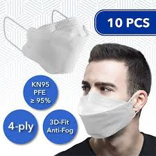 <b>10 Pcs 3D</b>-Fit Disposable <b>Face Masks</b> (KN95) (comparable to N95 ...