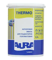 Эмаль для радиаторов <b>в/д Aura Luxpro</b> Thermo полуматовая 0.9 л ...