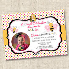 custom birthday party invitations net a sweet bumblebee celebration custom birthday party invitation birthday invitations