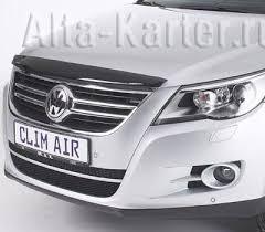 <b>Дефлектор</b> '<b>ClimAir' для капота</b> Volkswagen Tiguan 2008-2016 ...