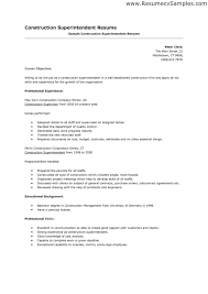 sample superintendent resume template resume sample information sample resume construction superintendent resume template example professional experience sample superintendent resume template