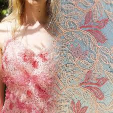 China Dress Lace Fabric <b>Beautiful Pink Tulle Lace</b> Trims - China ...