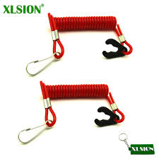 2pcs kill switch safety tether jet ski lanyard cord boat outboard engine