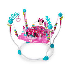 Bright Starts <b>Disney Baby Minnie</b> Mouse PeekABoo Activity Jumper ...