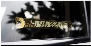 Автомобильные карточки временной парковки с телефонным ...
