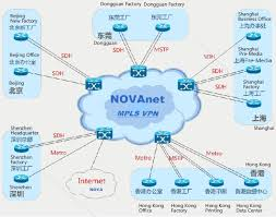novathe topological diagram of rrd mpls vpn proprietary network is as follows