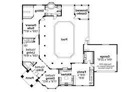 Southwest House Plans   Savannah     Associated Designs    Southwest House Plan   Savannah     st Floor Plan