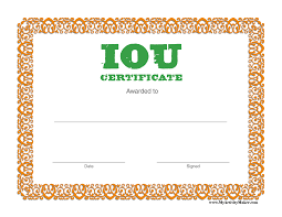 gift certificate coupon template iou printable certificate templates gift certificate coupon template dimension n tk