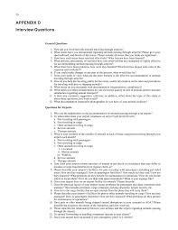 appendix d interview questions issues related to accommodating page 69