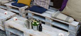 diy wood pallet patio furniture with colorful cushions and storage space apartment patio furniture
