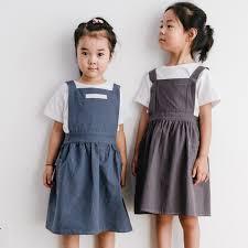 <b>New</b> Brief <b>Nordic Wind</b> Pleated Skirt Cotton Linen Apron <b>Children</b> ...