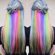 <b>Long Straight Fake Colored</b> Hair Extensions Clip In Highlight ...