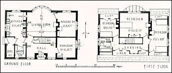s Housing  House at Sands  Near Farnham  SurreyGround and first floor plans