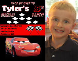 cars personalized photo birthday invitations 1 09 welcome to cars personalized photo birthday invitations