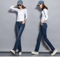 Straight Jeans Woman <b>2019</b> New Spring <b>Autumn</b> Fashion Casual ...