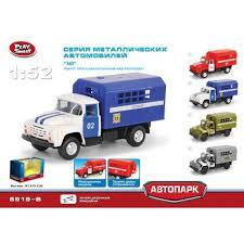 <b>Машина Play Smart</b> 1:52 металлический грузовик полиция ...