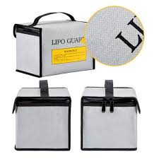Lipo <b>Battery</b> Safe <b>Bag</b> LiPo sacks Guard Fireproof for Lipo <b>Battery</b> ...