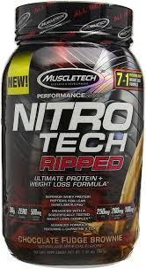 Muscletech Performance Series <b>Nitro</b>-<b>Tech Ripped</b> Supplement, 2 ...