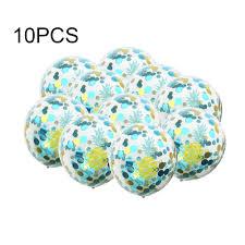 <b>10pcs</b> 12 inch <b>Flamingo</b> Turtle Leaf Cactus Pineapple Confetti ...