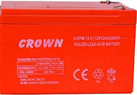 Buy <b>Crown Battery</b> Rechargeable 12Vx8AH Online at Low Prices in ...