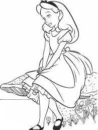 Small Picture Lovely Alice in Wonderland Coloring Page Lovely Alice in