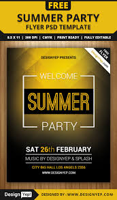summer welcome party flyer psd template designyep summer welcome party flyer psd template designyep