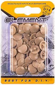 """<b>Заглушка</b> на шуруп """"Element"""", цвет: темно-<b>бежевый</b>, №3 40 шт ..."""