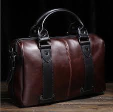 <b>2019 Vintage Men's Leather</b> Shoulder Handbags Laptop <b>Bag</b> ...