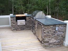 Countertop For Outdoor Kitchen The Outdoor Kitchen Soapstone Countertop Matches The Kitchen