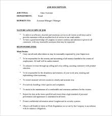 assistant manager job description templates – free sample    sales assistant manager job description free pdf format download