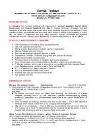 samuel t cv for account and finance assistant jobs ed feb