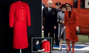 Diana's £50,000 scarlet suit goes on public display for the first time ...