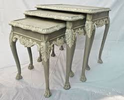 french style shabby chic nest of tables no 22 chalk paint painted furniture chic shabby french style