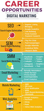 career opportunities in digital marketing digitaloom so the help of above infographic you can easily understand and choose your career