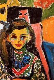 Ernst Ludwig Kirchner >> Fränzi con una sedia intagliata   (, opera d' - ERNST-LUDWIG-KIRCHNER-FR%25C3%2584NZI-WITH-A-CARVED-CHAIR