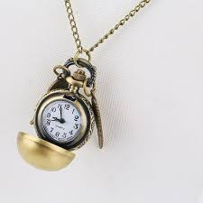 <b>Unisex</b> Retro Wing Gold Ball Pocket Watch Smooth Slender ...