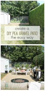 patio steps pea size x: create a pea gravel patio the easy way