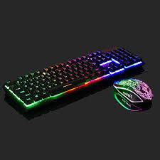 Rainbow <b>Gaming Keyboard and Mouse</b> Set For PS4/PS3/Xbox One ...