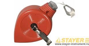 <b>Шнур</b>-<b>отвес STAYER разметочный</b>, корпус металлический, 30 м ...