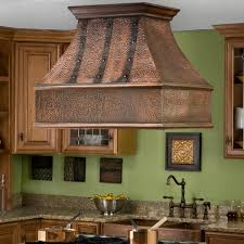 series vent hood: quot tuscan series copper island range hood with riveted bands