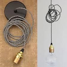 vintage lighting set fabric cable edison screw lamp holder ceiling rose ebay cable pendant lighting