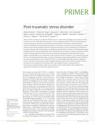 post traumatic stress disorder pdf available