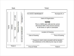 Sample Raffle Ticket Template - 20+ PDF, PSD, Illustration, Word ... Free Raffle Ticket Template